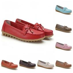 44 Womens 16 Colors PU Leather Slip On Moccasin Casual Loafe