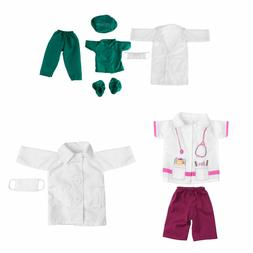 7 Sets Doctor Nurse Doll Clothes Outfit Set for Our Generati