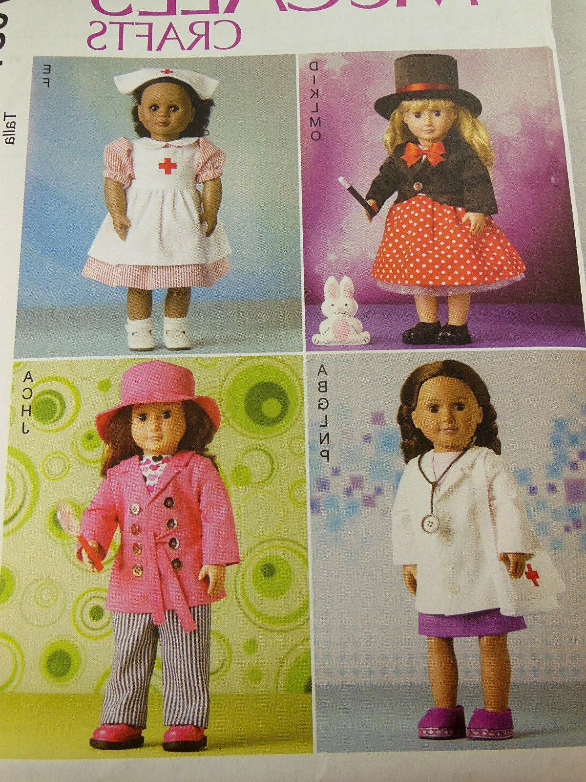 18 doll clothes nurse doctor magician hat