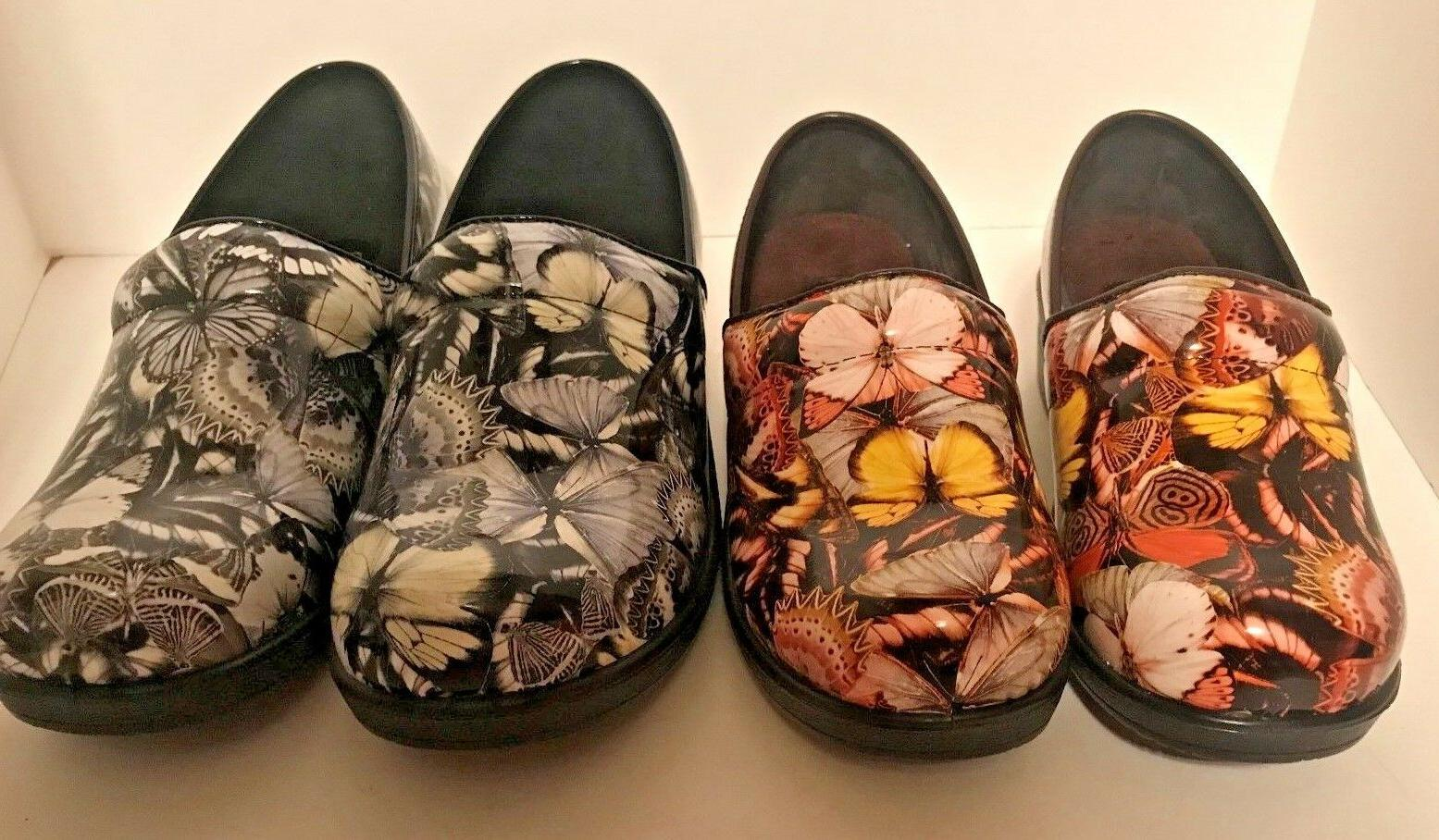 dany brown and silver floral clogs comfortable