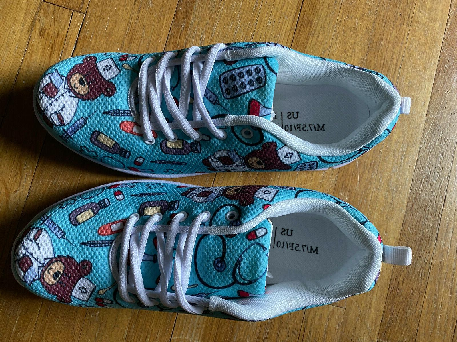 teal turquoise womens nursing tennis shoes size