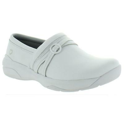 womens ceri white leather work clogs shoes