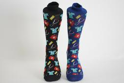 Men's Fun Crew Socks Doctor/Nurse Shoe Size 6-12.5