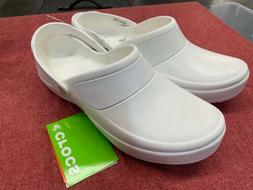 Crocs Mercy Work Roomy Fit White Clogs Comfort Shoes Nursing