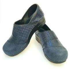NEW Sanita Gray Suede Leather ANNABELLEClogs Size 37 6.5 /