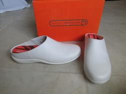 New Rockport Kellen Work Shoes Clogs Womens 9.5 Wide White A