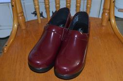Shoes for Crews Nurse Clogs Slip Water Resistant Maroon Wome