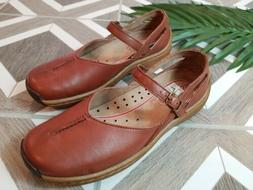 tan brown leather mary jane shoes womens
