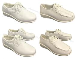 Women's Comfort Shoes Leather Lined Lace up Wide Width Medic