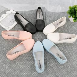 Womens Fall Casual Loafers Nurse Work Shoes Non-slip Solid C