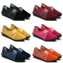 Womens Soft Slip On Flats Shoes Non-slip Loafers Moccasin Co